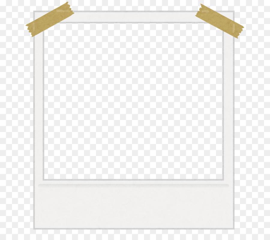 Masking tape Color Picture Frames - polaroid frame png download ...