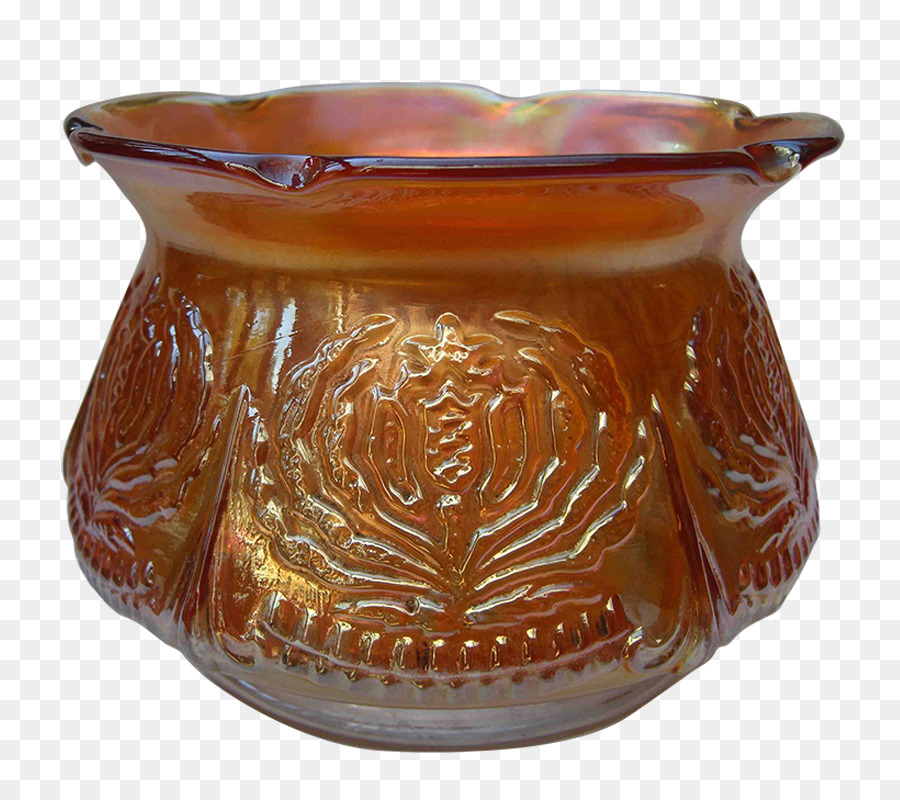 Carnival Glass Bowl Spittoon Brockwitz Marigold Pot Marigold Png