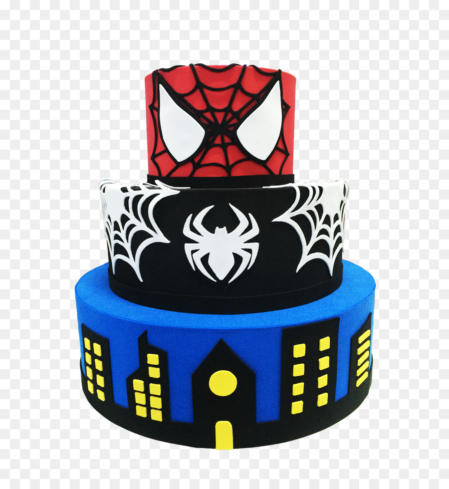 Birthday Cake Spider Man Superhero Pastel Cake Png Download 734