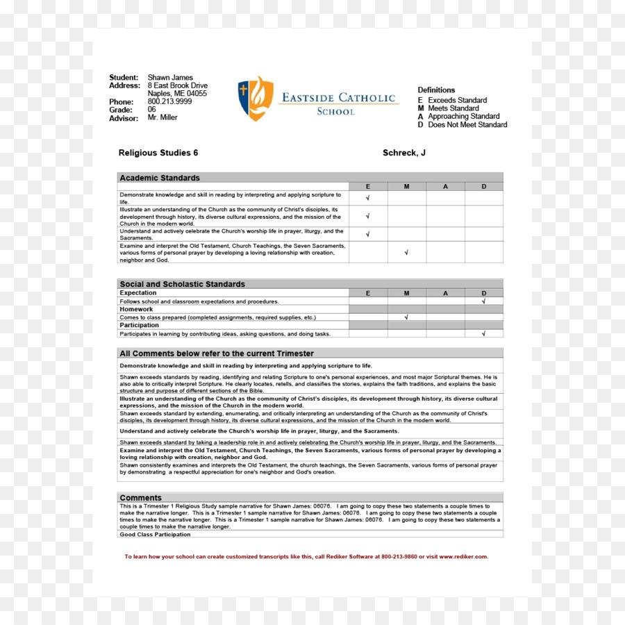 Tarjeta del informe de la Mitad de la Plantilla de la escuela ...