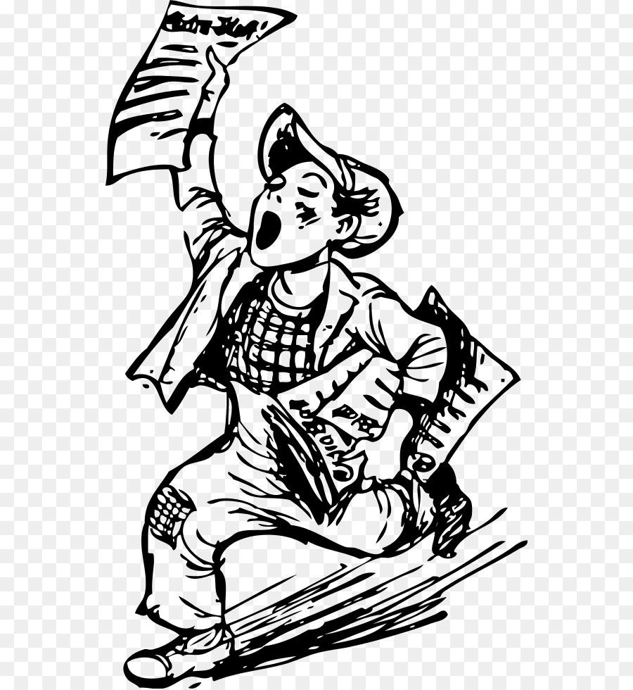 Paperboy Newspaper Carrier Day Clip Art