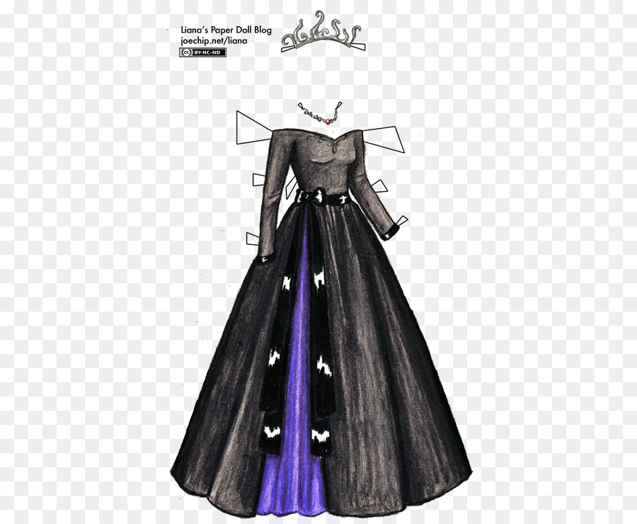 Gown Dress Paper doll - Day Dress png download - 440*738 - Free ...