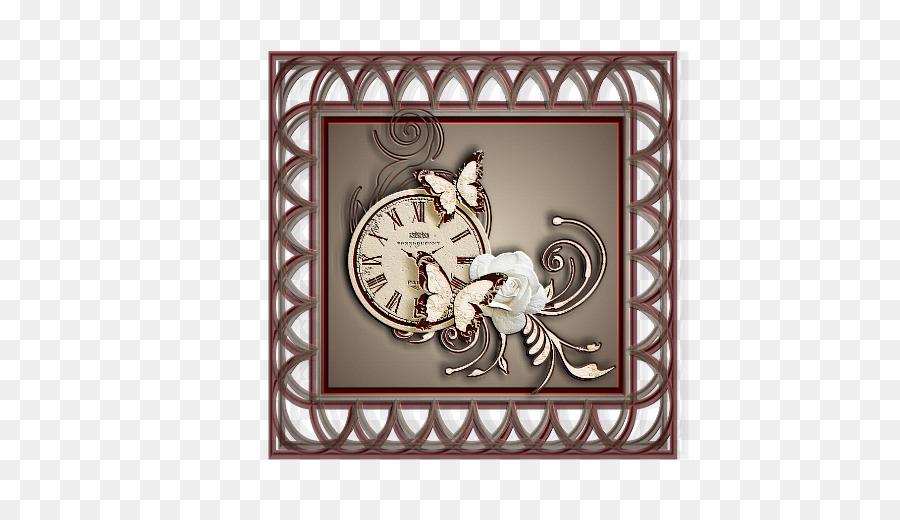 Visual Arts Picture Frames Metal Pattern Cinderella Clock Png