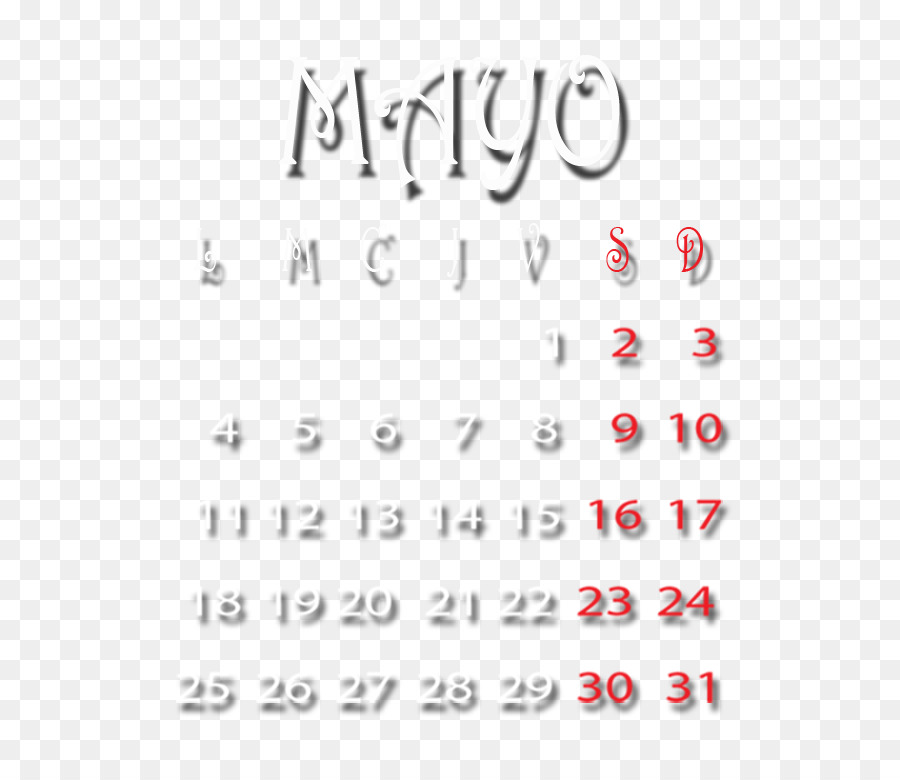 Calendar Hug Month Greeting Mayo Png Download 633772 Free