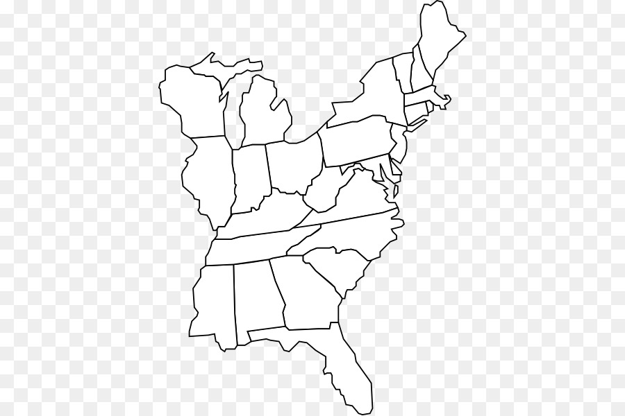 United States Blank map World map Geography - East Coast Of The ...
