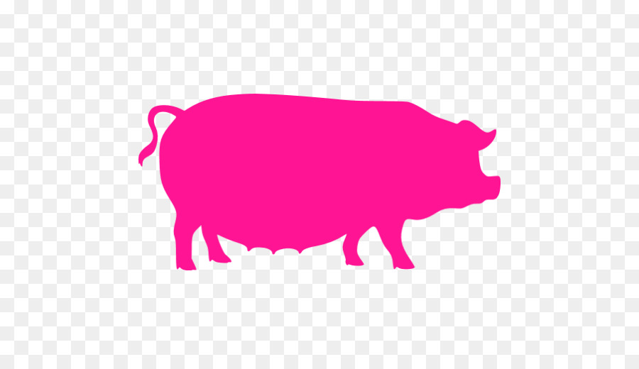 Domestic Pig Butcher Diagram Bacon Pig Png Download 512512