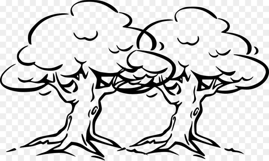 Oak Tree Outline Pine Clip Art