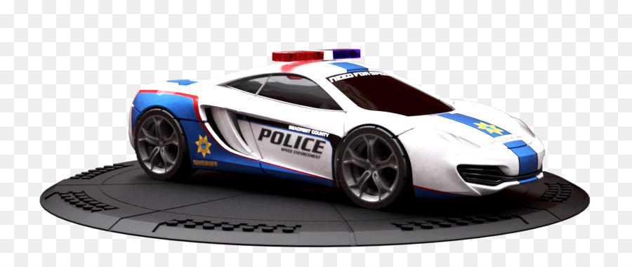 model car police car automotive design - mclaren mp4 12c png