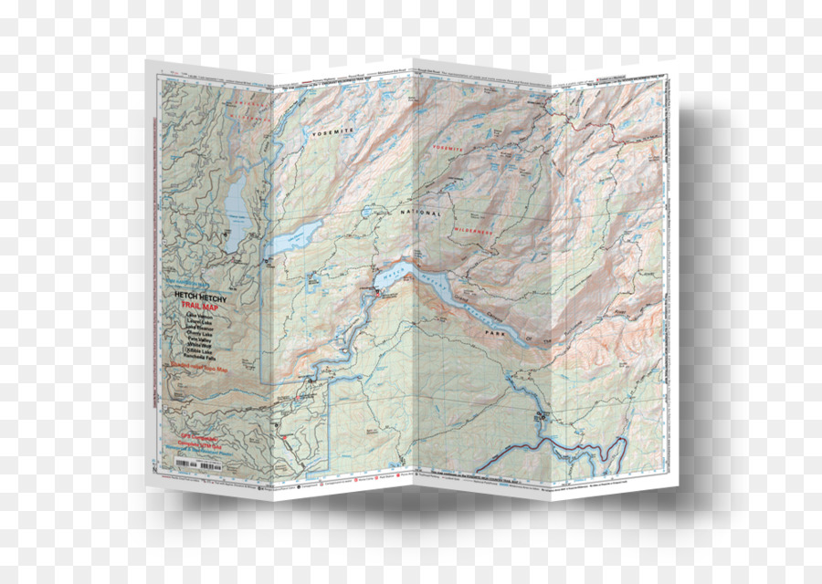 Tuolumne Meadows Half Dome Yosemite Valley Map Emigrant Wilderness ...