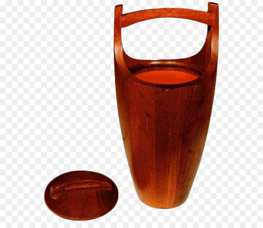 Dansk International Designs Bucket Danish Modern Teak Vase Bucket