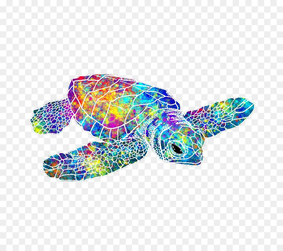 Tortuga verde Toalla de Color - tortuga png dibujo - Transparente ...