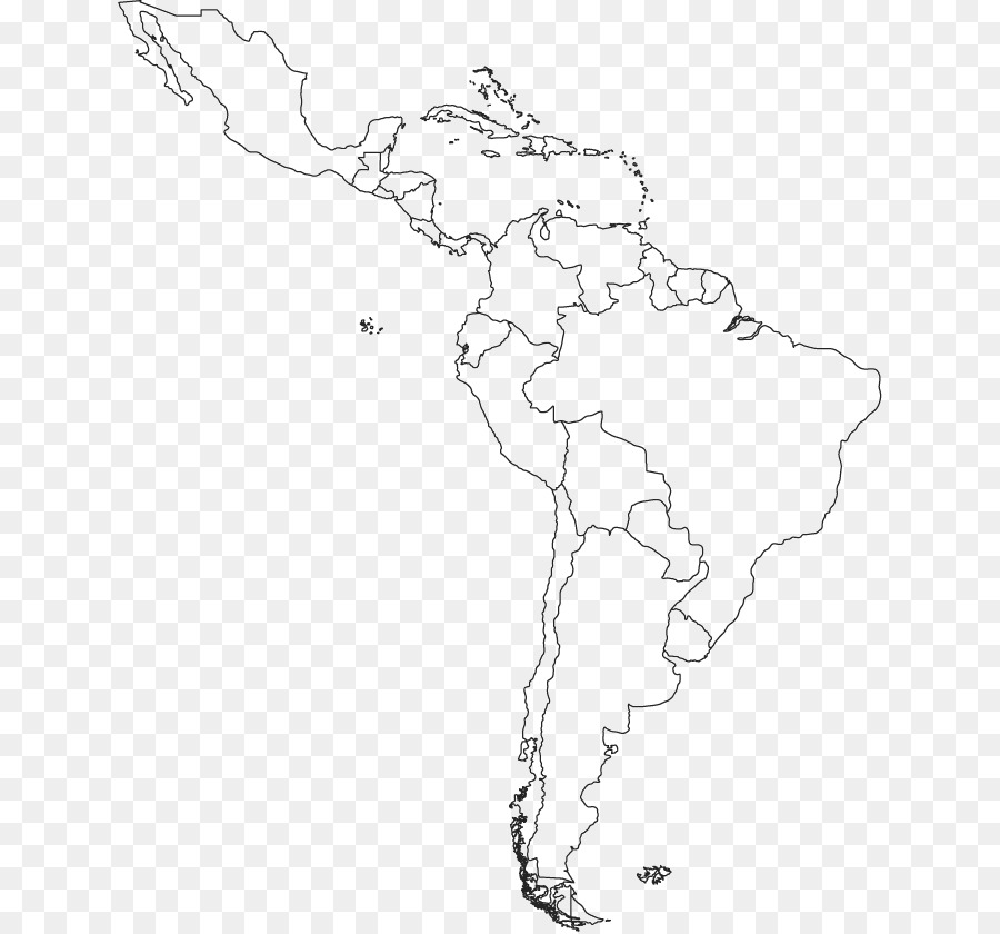 Superb South America Latin America Blank Map Central America   Map