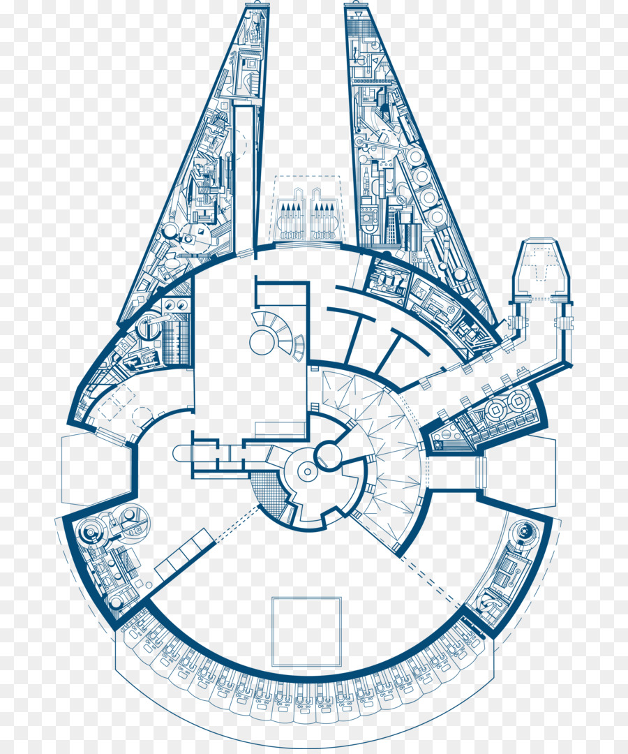 Lovely Star Wars: The Blueprints Millennium Falcon Drawing   Millennium Falcon