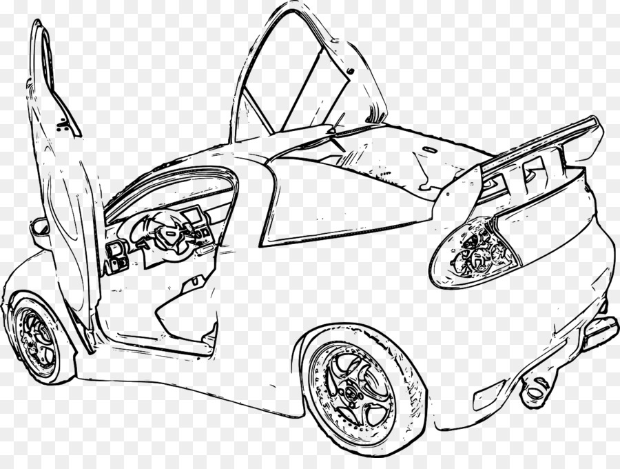 Line Art Car Door Coloring Book Clip Art Car Png Download 1280