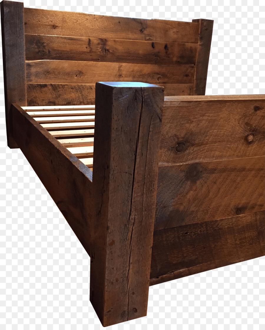 Marco de la cama con mesitas de noche Recuperado de madera de Cajón ...