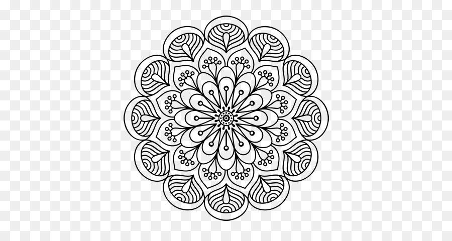 Mandala libro para Colorear de Dibujo de diseño Floral - Mandala de ...