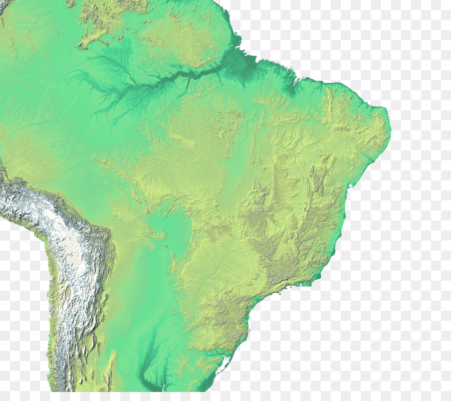 Brazil Topographic Map Topography Landform Map Png Download 1128