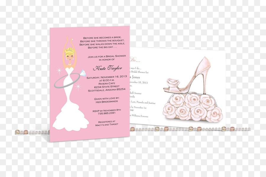 Bridal Shower Wedding Invitation Pink M Font Bridal Shower