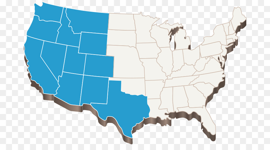 Western United States Blank map U.S. state Geotechnical Testing ...