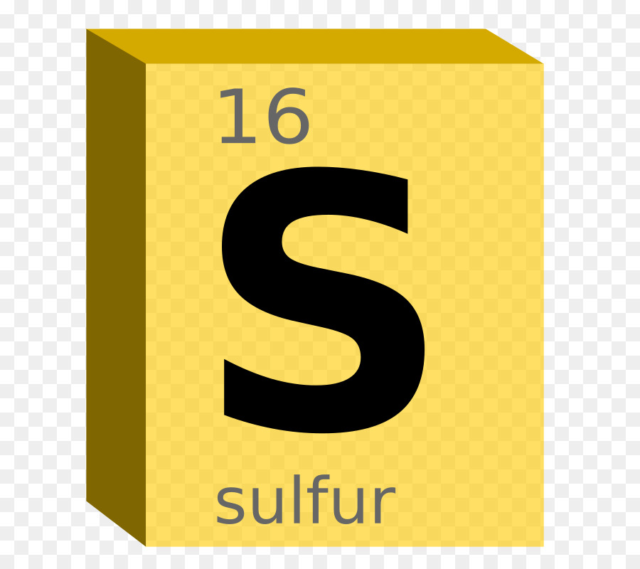 Periodic Table Sulfur Symbol Chemical Element Block Symbol Png