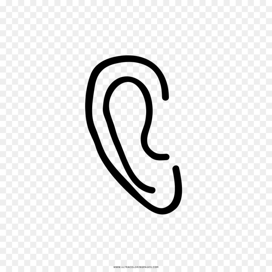 Dibujo de la Oreja Oreja libro para Colorear - oído Formatos De ...