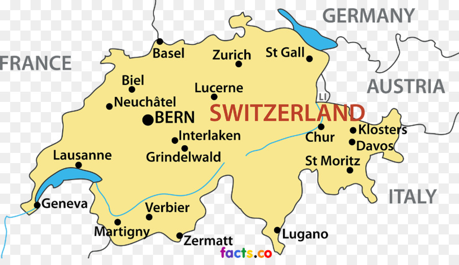 Switzerland World Map Blank Map Switzerland Png Download 960 541