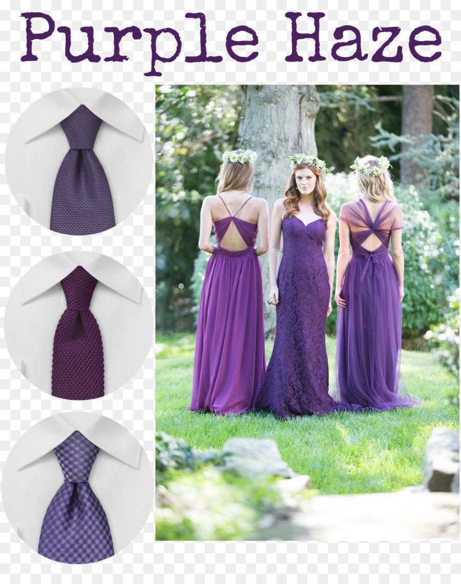 Vestido de novia de color Púrpura Corbata de Dama de honor - morado ...