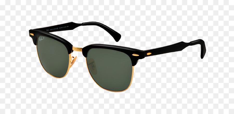 Ray-Ban Clubmaster de Alumínio Ray-Ban Clubmaster Clássico Óculos de sol  óculos Browline - ray ban db4a537df8