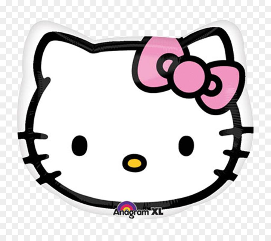 Mylar Ballon Hello Kitty Birthday Schablone