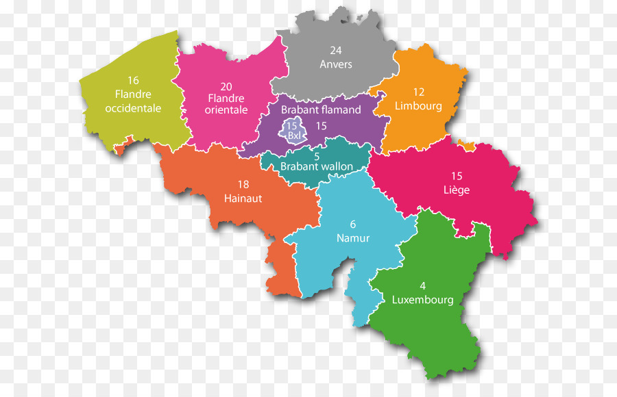 provincias de la regin flamenca de blgica bruselas valonia mapa