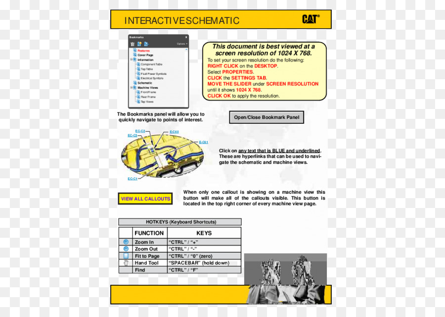 caterpillar inc, electrical system design, wiring diagram, yellow, text png
