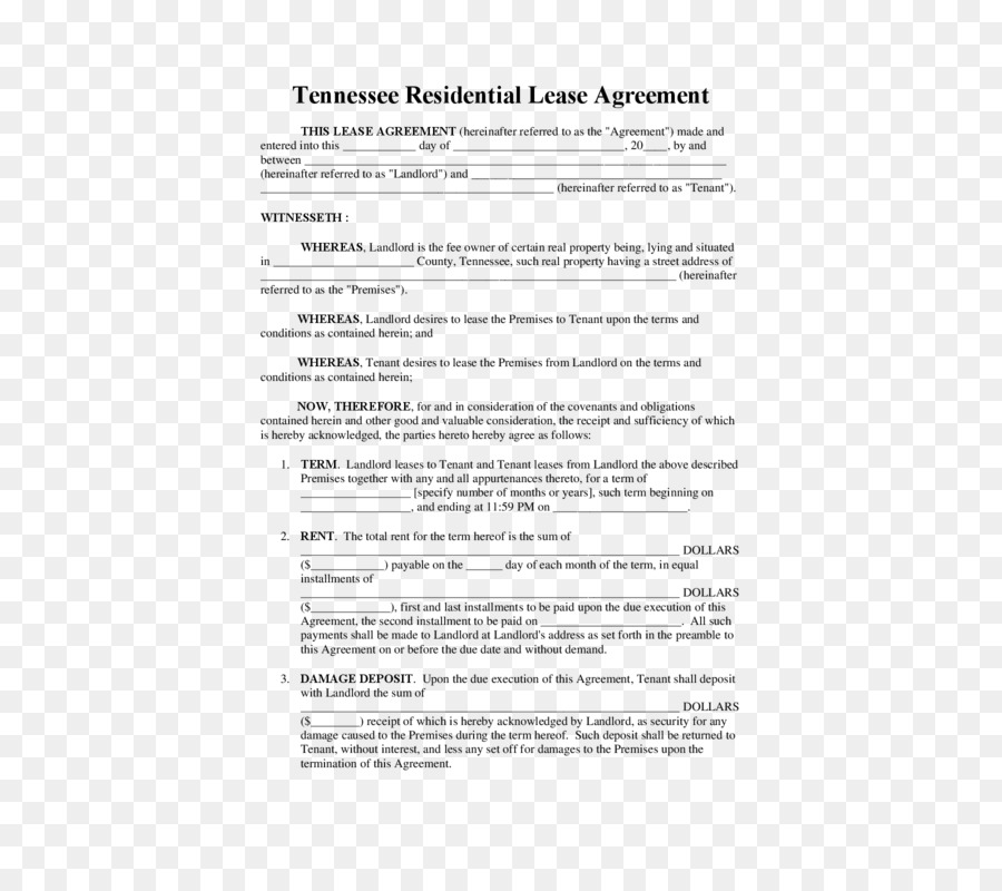 Document Lease Template Rental Agreement Contract Lease Purchase