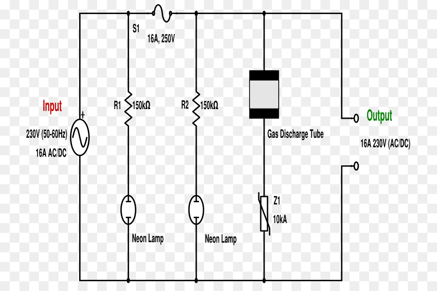 wiring diagram surge protector schematic electrical wires cable rh kisspng com