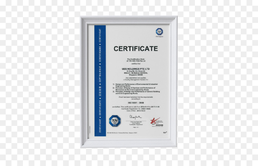 ISO 14000 Certification ISO 9000 ISO 14001 Paw Leck Engineering Pte ...