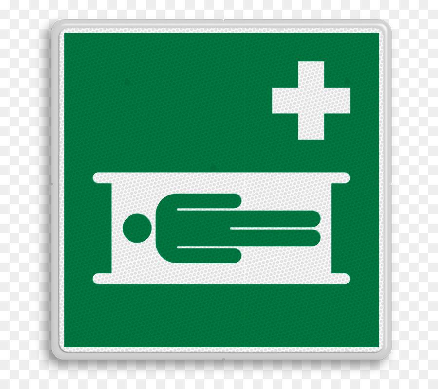 Stretcher First Aid Supplies Rettungszeichen Safety Emergency