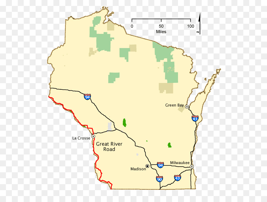Wisconsin Map National Scenic Byway Scenic route Washington, D.C. ...