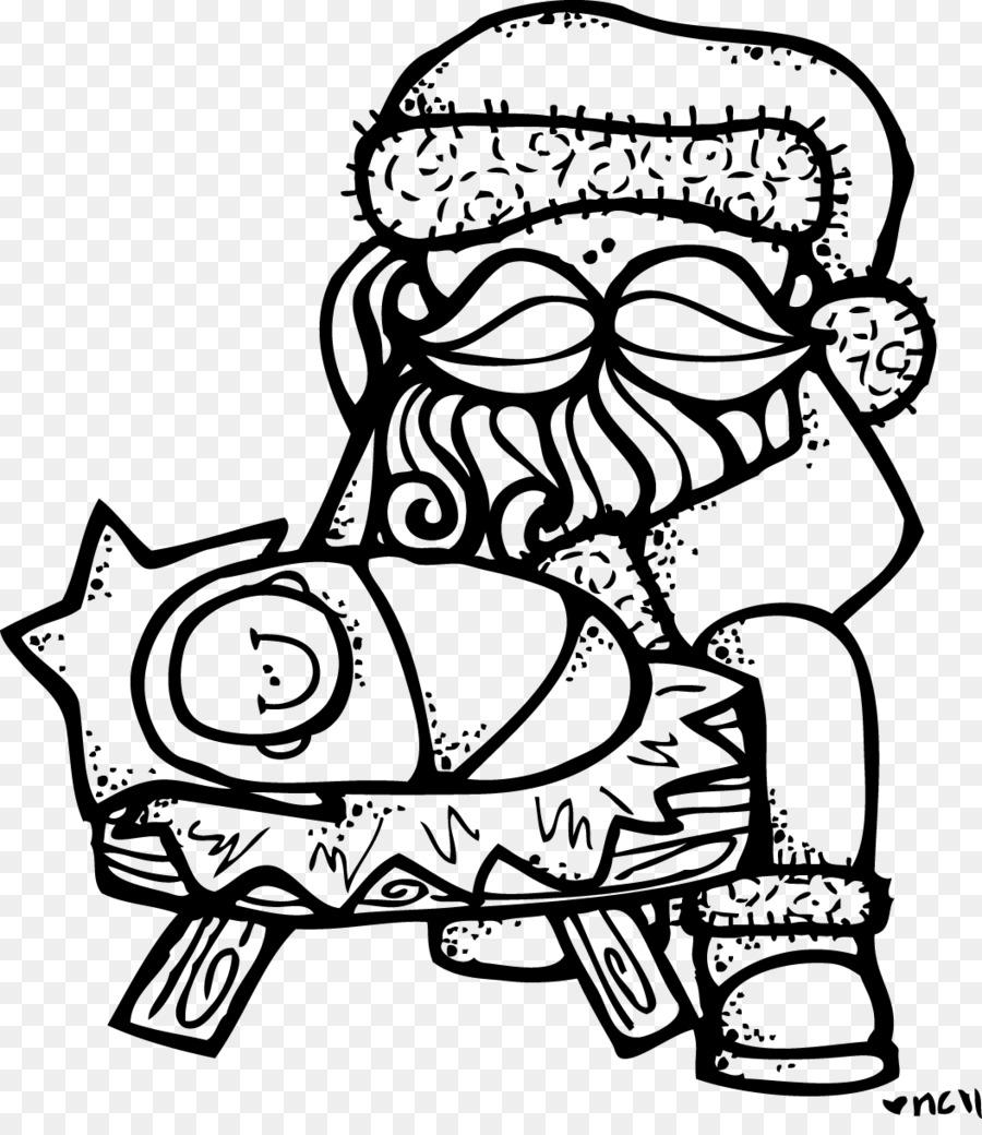 Santa Claus Coloring book Manger Child Jesus Nativity of Jesus ...