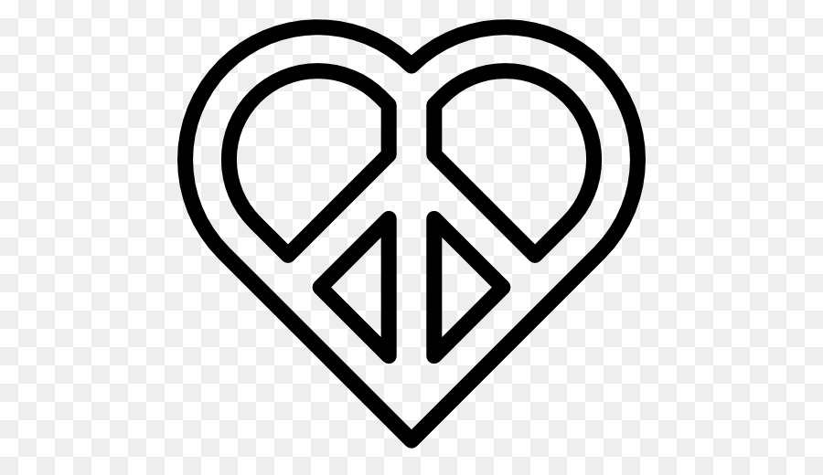 Peace Symbols Heart Pacifism Symbol Png Download 512512 Free