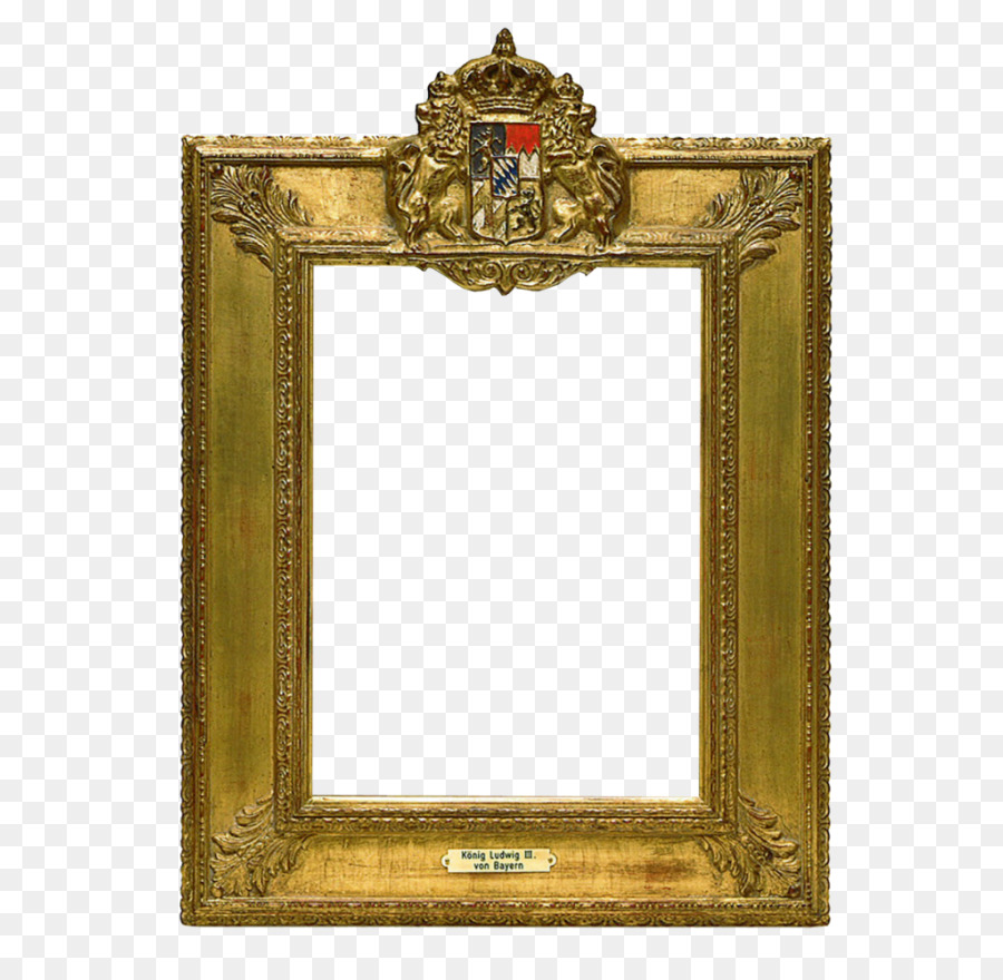 Picture Frames Rectangle Rigid frame Brass - Brass png download ...