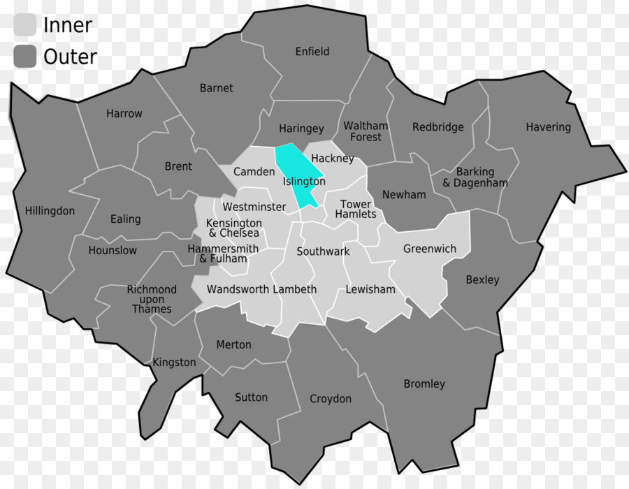 Map Inner London.Inner London Outer London Central London London Borough Of Haringey