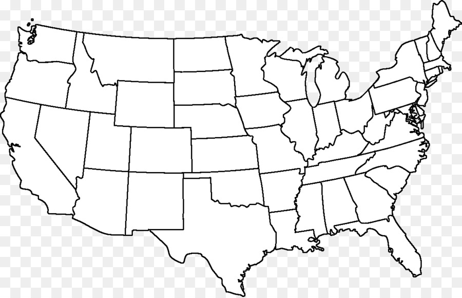 Outline of the United States Blank map Alaska Hawaii - map png ...