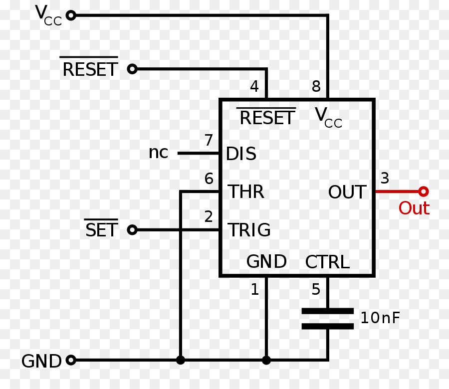 555 Timer IC Monostable Multivibrator Flip Flop