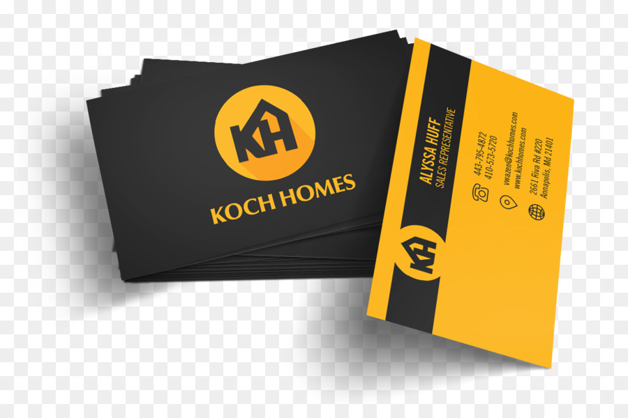 Cartes De Visite Logo La Marque Koch Maisons Publicite