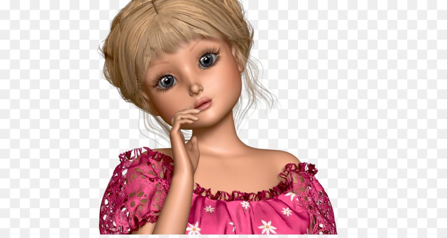 Blonde Lange Haare Barbie Perücke Braune Haare Sweet Ann Png