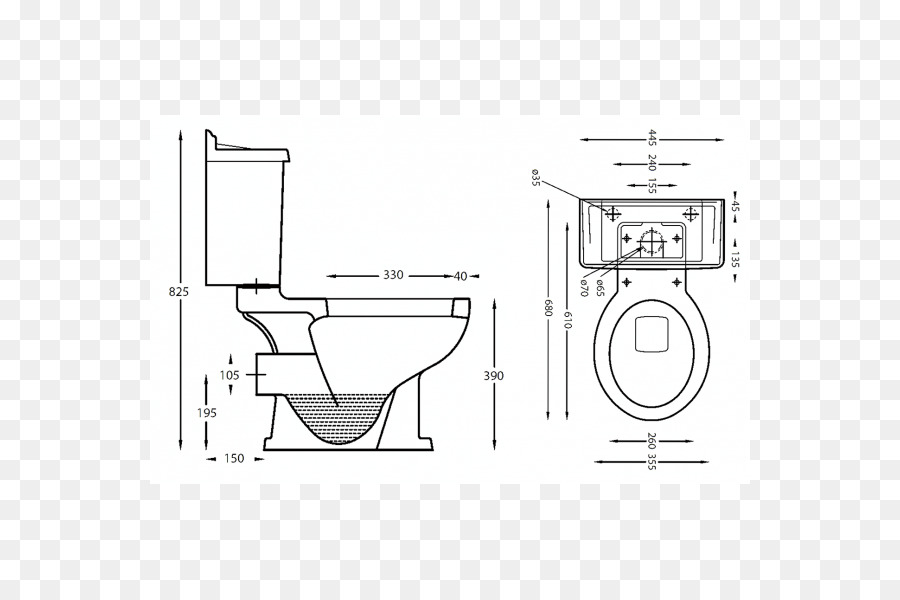 Technical Drawing Furniture Line Art Diagram Squat Toilet Png
