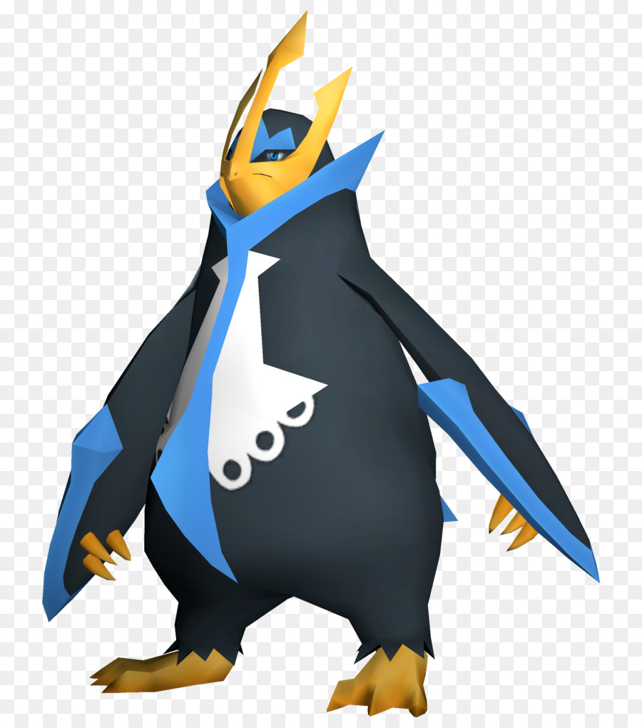empoleon rendering pokémon king penguin pokemon png download 784
