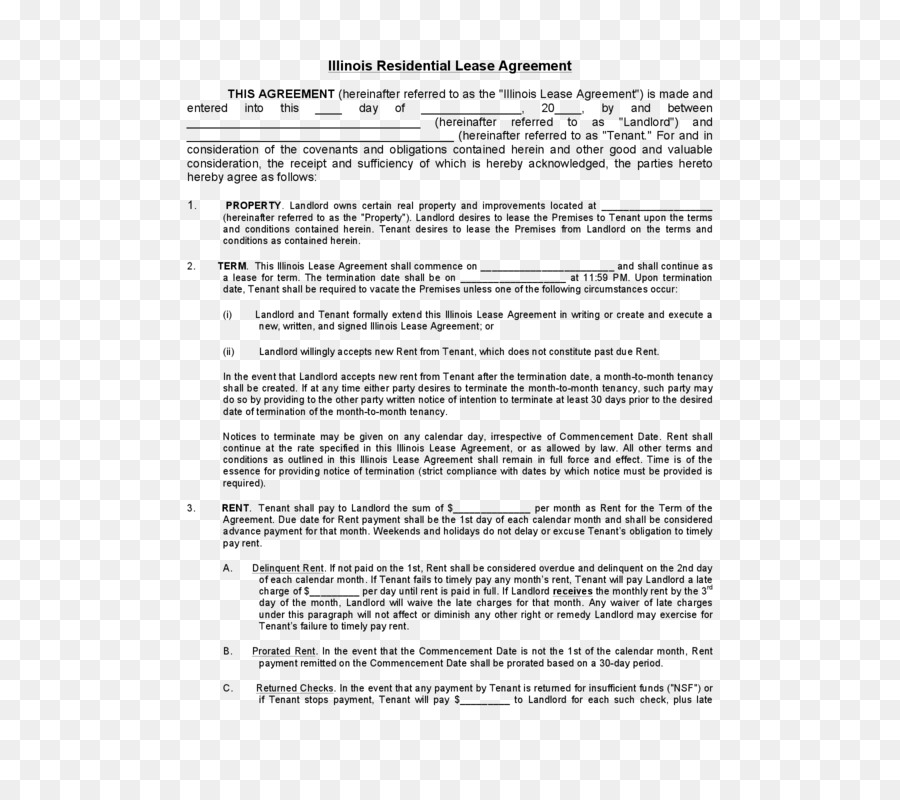 Document Rental Agreement Contract Renting Lease House Png