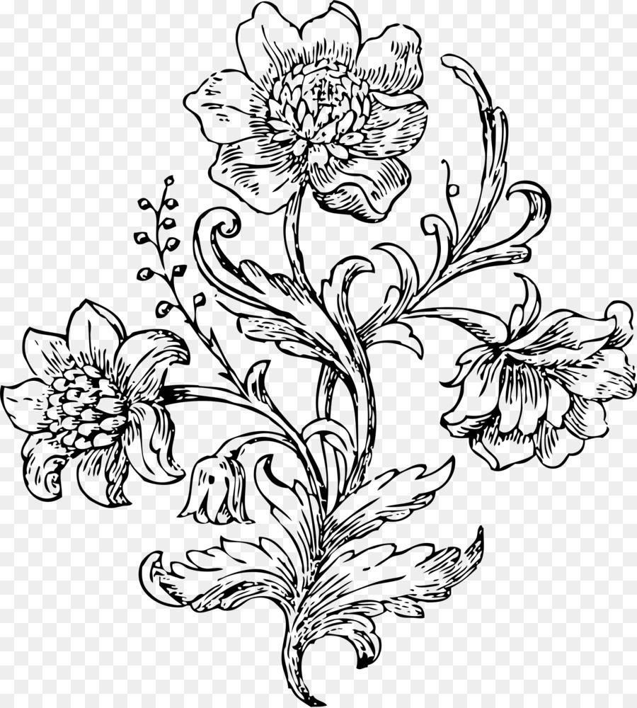 Floral Design White Flower Clip Art Flower Png Download 2059