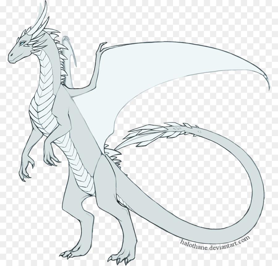 Velociraptor de la Línea de arte Dragón de dibujos animados de ...