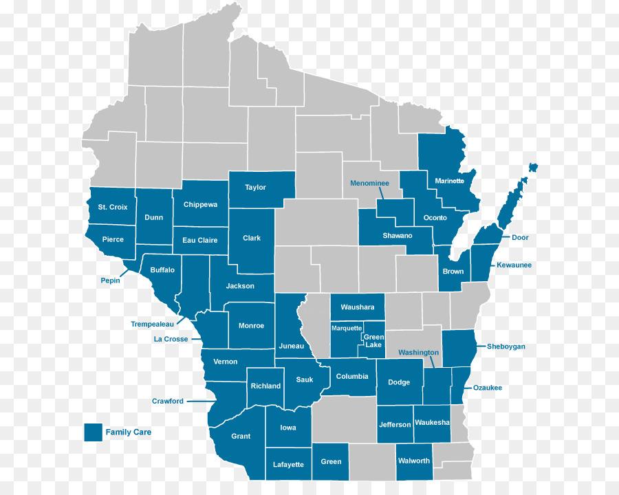 Dodge County, Wisconsin Karte, Versteckten Bucht Grafiken - Anzeigen on